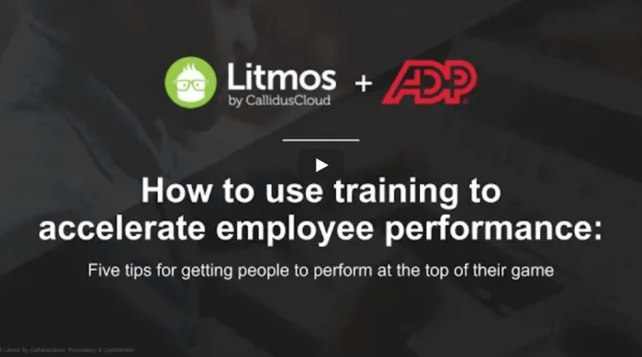 How to use training to accelerate employee performance